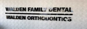 Walden Family Dental Interior Sign