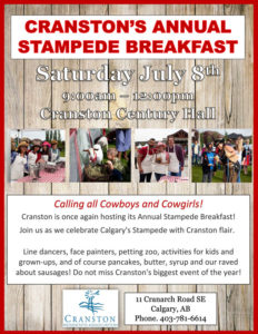 Cranston Stampede Breakfast 2018