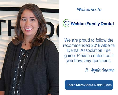 Dr. Angela Sharma | Walden Family Dental | Follows 2018 Dental Fee Guide